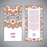 Mandala card template Royalty Free Stock Images