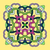 Mandala carré ornemental illustration de vecteur