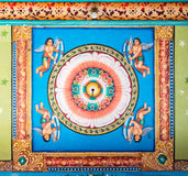 Mandala on ceiling of Mandapam. Royalty Free Stock Images