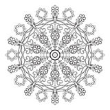 Mandala for children with dragonflies. Stock Photos