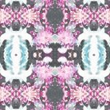 Mandala Chrysanthemum Flowers Template Fotografia Stock