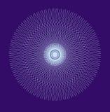 Mandala a cielo abierto, ornamento circular elegante Dibujo blanco en un fondo azul Vector Fotografía de archivo libre de regalías