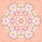 Mandala circle arabesque background. Floral mandala background. Ornamental bright card vector illustration