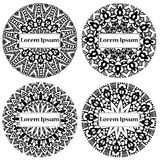 Mandala circle design. Abstract lace ornament. Vector illustration with arabic motifs for card, invitation, scrap booking. Royalty Free Stock Image