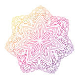Mandala. Circle pattern in light pink, violet and blue colors. Stock Image
