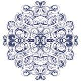 Mandala: Circle pattern, ornamental round lace Royalty Free Stock Image