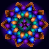 Mandala Circle von Güte Stockbild