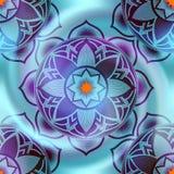 Mandala circles pattern on blur spiral background. Stock Images