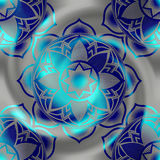 Mandala circles pattern on blur spiral background. Royalty Free Stock Photo