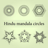 Mandala circles set. Mystic mandala Royalty Free Stock Photos