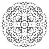 Mandala circulaire symétrique de modèle Photo stock