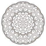 Mandala circulaire symétrique de modèle Image libre de droits