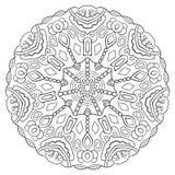 Mandala circulaire symétrique noir et blanc de modèle Photo libre de droits