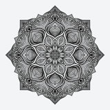 Mandala. circular monochrome pattern Stock Image