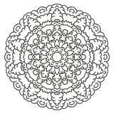 Mandala circular simétrica del modelo Fotos de archivo