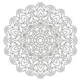 Mandala circular simétrica del modelo Foto de archivo libre de regalías