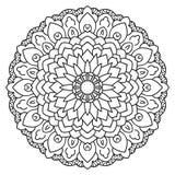 Mandala circular simétrica del modelo Imagen de archivo libre de regalías
