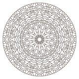 Mandala circular simétrica del modelo Imagenes de archivo