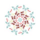 mandala cirkel också vektor för coreldrawillustration royaltyfri illustrationer