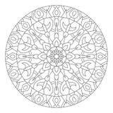 mandala Cirkelpatroon in etnische stijl Stock Foto