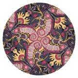 Mandala clipart element van de kameleonhagedis De kleurrijke reptiel vectorillustratie met past tekst aan royalty-vrije illustratie