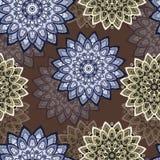 Mandala coloré Conception est et ethnique, modèle oriental, ornement rond illustration libre de droits