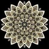 Mandala coloré Conception est et ethnique, modèle oriental, ornement rond Pour l'usage en décor de tissu, copie, tatouage illustration de vecteur
