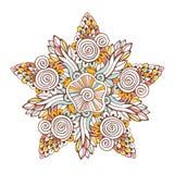 Mandala coloré de vecteur Ornement pour les pages de livre de coloriage ou la décoration de conception Photographie stock