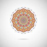 Mandala coloré ornemental Modèle géométrique élégant dans l'orient Images libres de droits