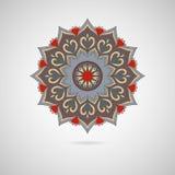 Mandala coloré ornemental sur le fond gris Photos libres de droits