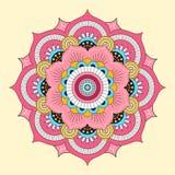 Mandala coloré Ornements ronds décoratifs Images libres de droits