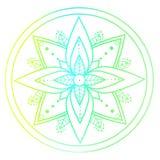Mandala coloré par contour Ornement décoratif pour votre conception Images libres de droits