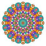 Mandala coloré rond Photo libre de droits
