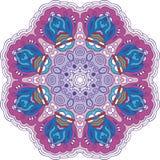 Mandala color circle. Vintage decor paisley elements. Hand drawn esoteric logo pattern, symbol purification meditation, sign yoga Royalty Free Stock Images