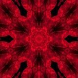Mandala color de rosa del rojo stock de ilustración