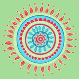 Mandala color pattern in vector Royalty Free Stock Photography