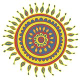 Mandala color pattern in vector Royalty Free Stock Photo