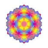 Mandala colorata arcobaleno astratto, fiore isolato su fondo bianco, fioritura multicolore, mandala esoterica variopinta del peta Fotografia Stock