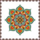 Mandala coloreada elemento decorativo del vintage stock de ilustración