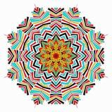 Mandala coloreada Elemento decorativo para su diseño Imagenes de archivo