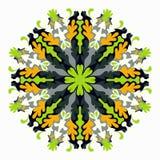 Mandala coloreada Elemento decorativo para su diseño Fotografía de archivo
