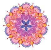Mandala coloreada floral decorativa Imagenes de archivo