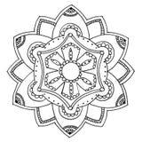 Mandala a colorear Foto de archivo libre de regalías