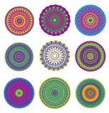 Mandala colored set. Geometric circle element. Mandala for decoration holiday cards, background and sites. Colorful mandala. Kalei Royalty Free Stock Image