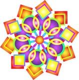 Mandala. Colorful psychedelic star square mandala Stock Photos