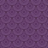 Hand drawn background with decorative elements in purple colors. Mandala colorful vector seamless pattern. Abstract geometric texture. Hand drawn background with Stock Illustration