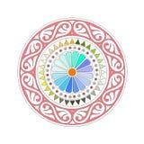 Mandala. A colorful mandala with white background Royalty Free Stock Images