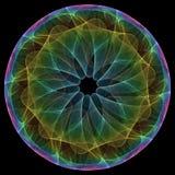 Mandala colorida ilustración del vector