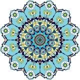 Mandala colorida azul Fotografia de Stock
