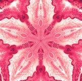 Mandala colorida de la acuarela Modelo redondo del vintage oriental Fondo abstracto drenado mano Adorno místico del otomano Fotografía de archivo